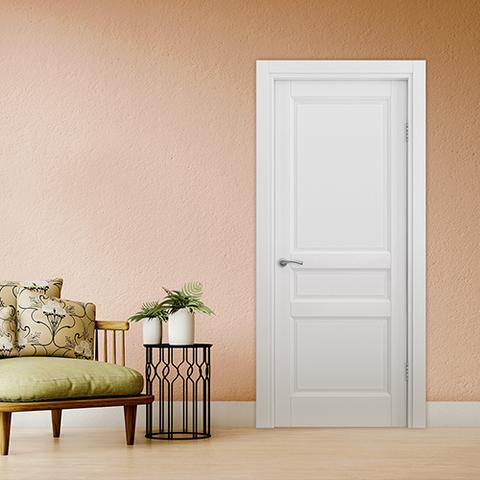 Межкомнатная дверь Helsinki в цвете белый жемчуг в наличии